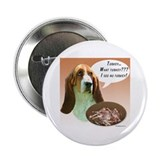 "Basset Hound Turkey 2.25"" Button"