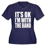 It's ok I'm with the Band Women's Plus Size V-Neck