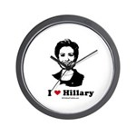 I heart Hillary Wall Clock