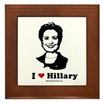 I heart Hillary Framed Tile
