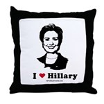 I heart Hillary Throw Pillow