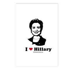 I heart Hillary Postcards (Package of 8)