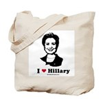 I heart Hillary Tote Bag