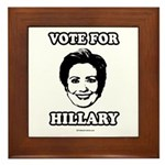 Vote for Hillary Framed Tile
