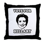 Vote for Hillary Throw Pillow