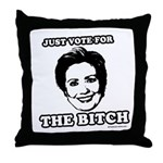 Hillary Clinton Throw Pillow