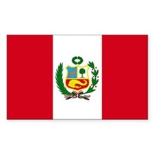 Peruvian Flag Rectangle Decal