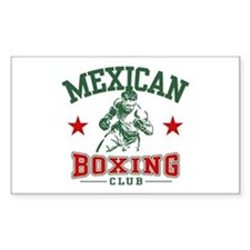 Mexican Boxing Rectangle Decal