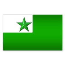 Esperanto Flag Jewel Rectangle Decal