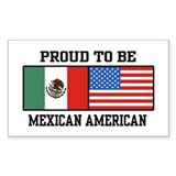 Proud Mexican American Rectangle Decal