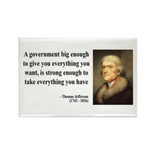 Thomas Jefferson Quote 1 Rectangle Magnet