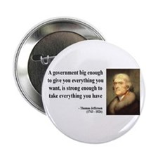 "Thomas Jefferson Quote 1 2.25"" Button (100 pack)"