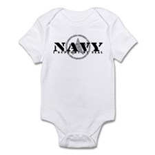 Navy - I Support My Seal Infant Bodysuit