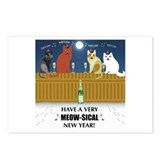Meow-sical New Year Postcards (Package o
