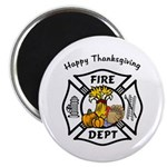 Thanksgiving Firefighter Magnet