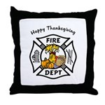Thanksgiving Firefighter Throw Pillow