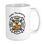 Thanksgiving Firefighter Large Mug