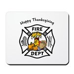 Thanksgiving Firefighter Mousepad