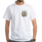 Thanksgiving Firefighter White T-Shirt