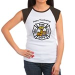 Thanksgiving Firefighter Women's Cap Sleeve T-Shir