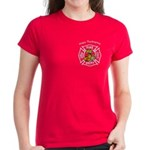Thanksgiving Firefighter Women's Dark T-Shirt