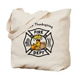 Thanksgiving Firefighter Tote Bag