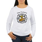 Thanksgiving Firefighter Women's Long Sleeve T-Shi