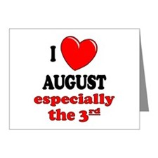 August 3rd Note Cards (Pk of 10)