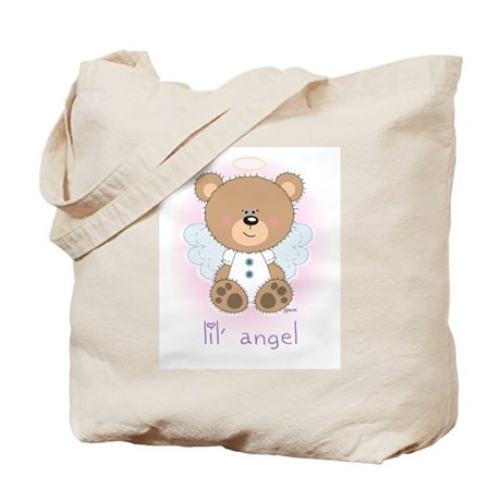 lil' brown bear angel Tote Bag