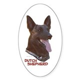 Dutch Shepherd Oval Decal