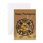 Thanksgiving Firefighter Greeting Cards (Pk of 10)