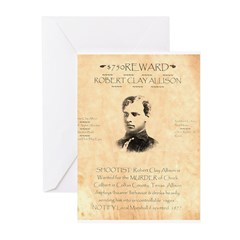 Wanted Robert Allison Greeting Cards (Pk of 10)
