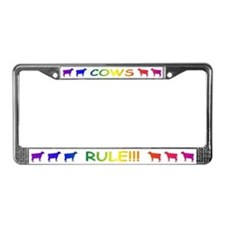 Cows Rule License Plate Frame