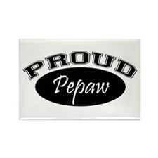 Proud Pepaw (black) Rectangle Magnet