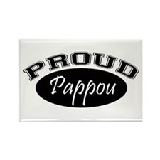 Proud Pappou (black) Rectangle Magnet (10 pack)