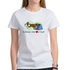 Brown Border Collie Flyball Tee