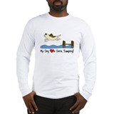 Cartoon Dock Jumping Long Sleeve T-Shirt