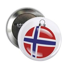 "Norway Christmas Ornament graphic 2.25"" Button"