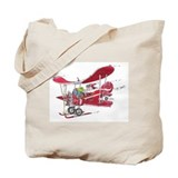 Santa Biplane Tote Bag