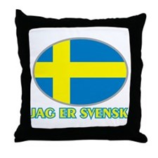 I Am Swedish Throw Pillow