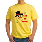 LET IT SNOW Yellow T-Shirt