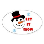 LET IT SNOW Oval Sticker
