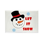 LET IT SNOW Rectangle Magnet (100 pack)