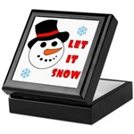 LET IT SNOW Keepsake Box