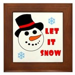 LET IT SNOW Framed Tile