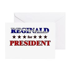 REGINALD for president Greeting Cards (Pk of 10)