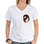 Jacobin Pigeon Women's V-Neck T-Shirt