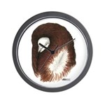 Jacobin Pigeon Wall Clock
