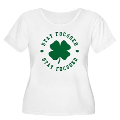 Irish Stay Focused Womens Plus Size Scoop Neck T-