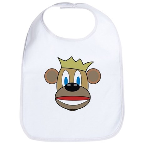 Monkey With Crown Bib